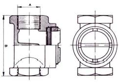 1500 Bronze Single Sight Glass Diagram